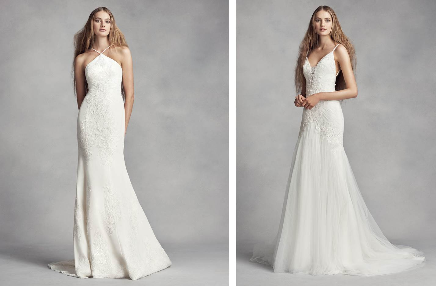 WHITE by Vera Wang Sheath Wedding Dresses