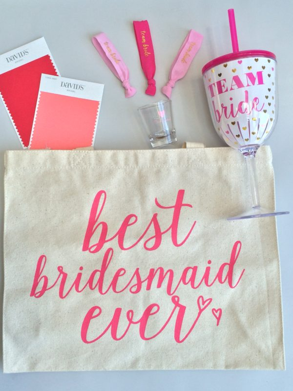 Best bridesmaid ever tote, team bride cup and other bridesmaid gifts