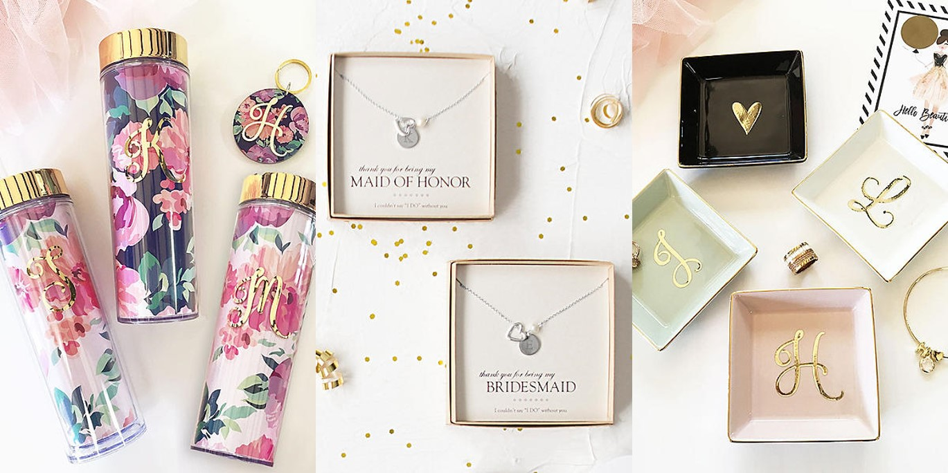 Monogram bridesmaid gifts