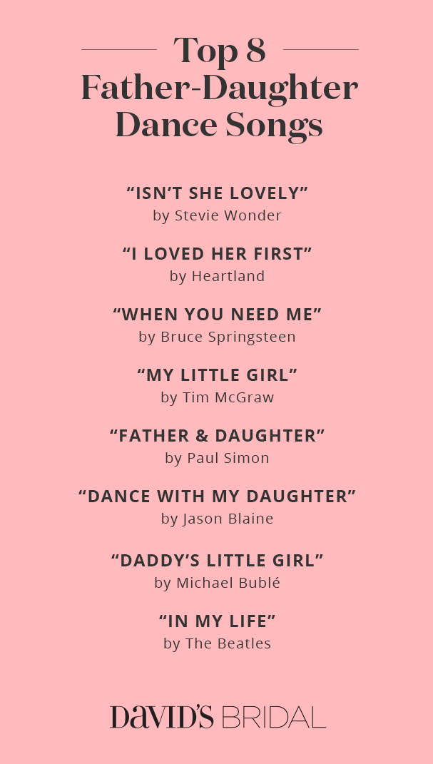 Best Father-Daughter Dance Songs