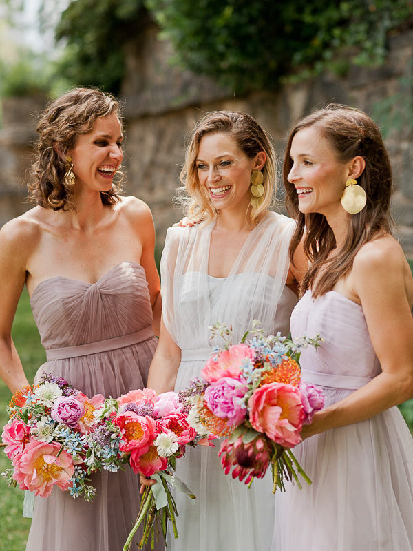 How to pair mismatched bridesmaid dresses on the David's Bridal blog.