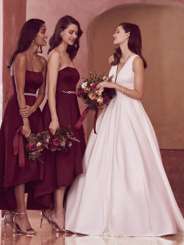 Classically cool bridesmaids and bride featuring David's Bridal Collection Fall 2017. See more on the David's Bridal blog www.davidsbridal.com/blog.