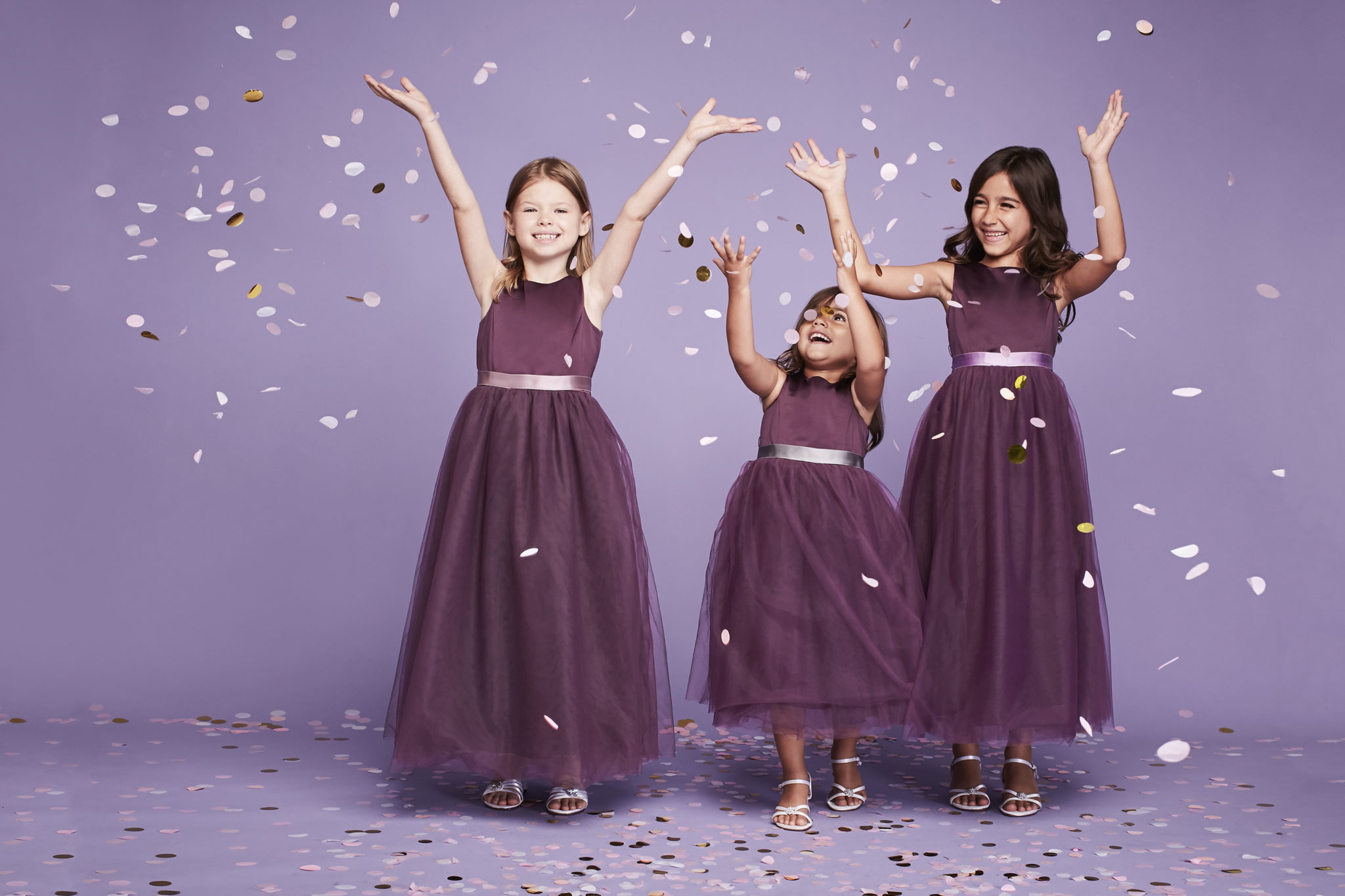 Colored Flower Girl Dresses. See more on the David's Bridal blog!