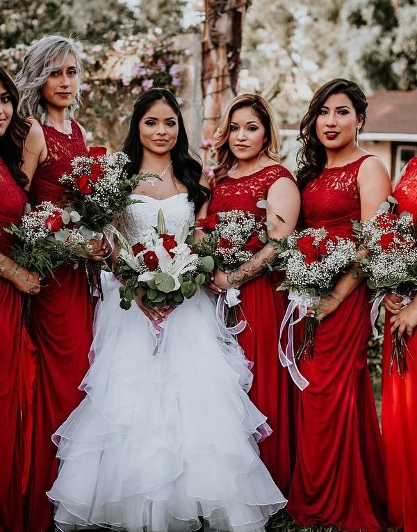 Holiday bridal party