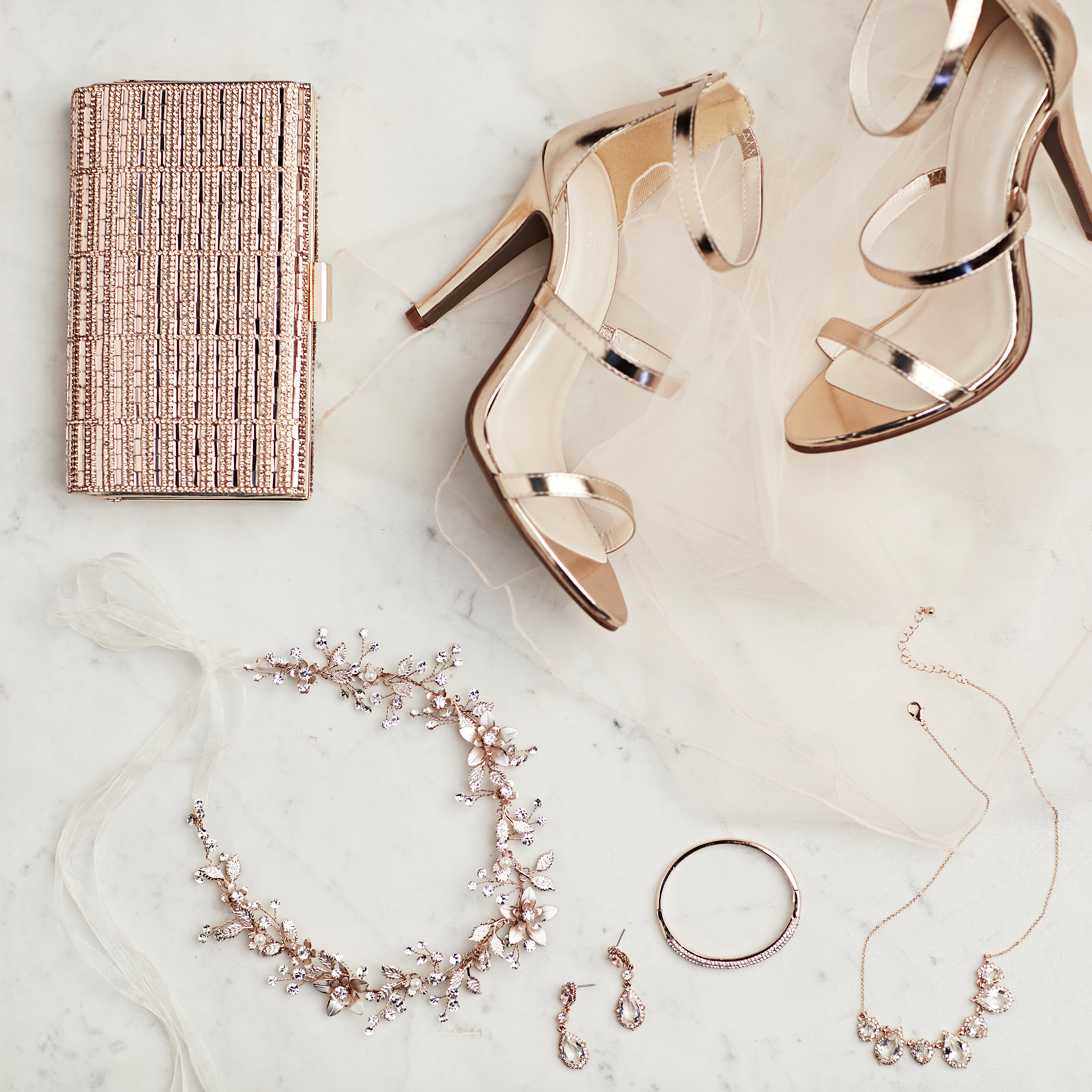 Rose Gold Accessories from David's Bridal