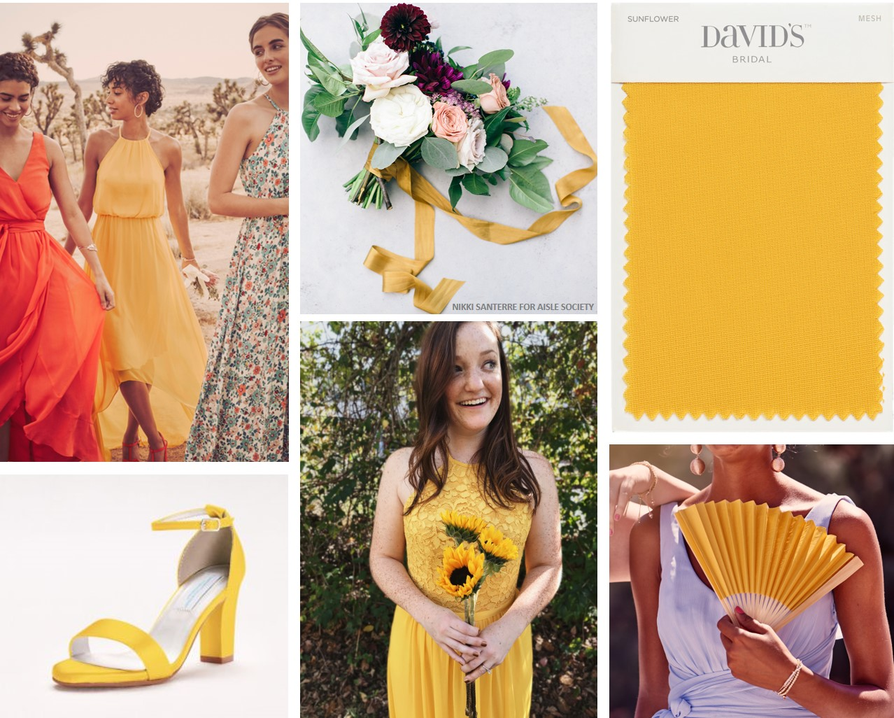 Sunflower Yellow Bridesmaid Dresses from David's Bridal
