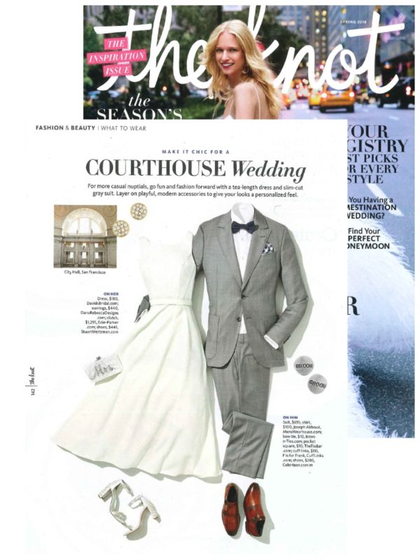 Courthouse Wedding Inspiration from The Knot's Spring 2018 Issue