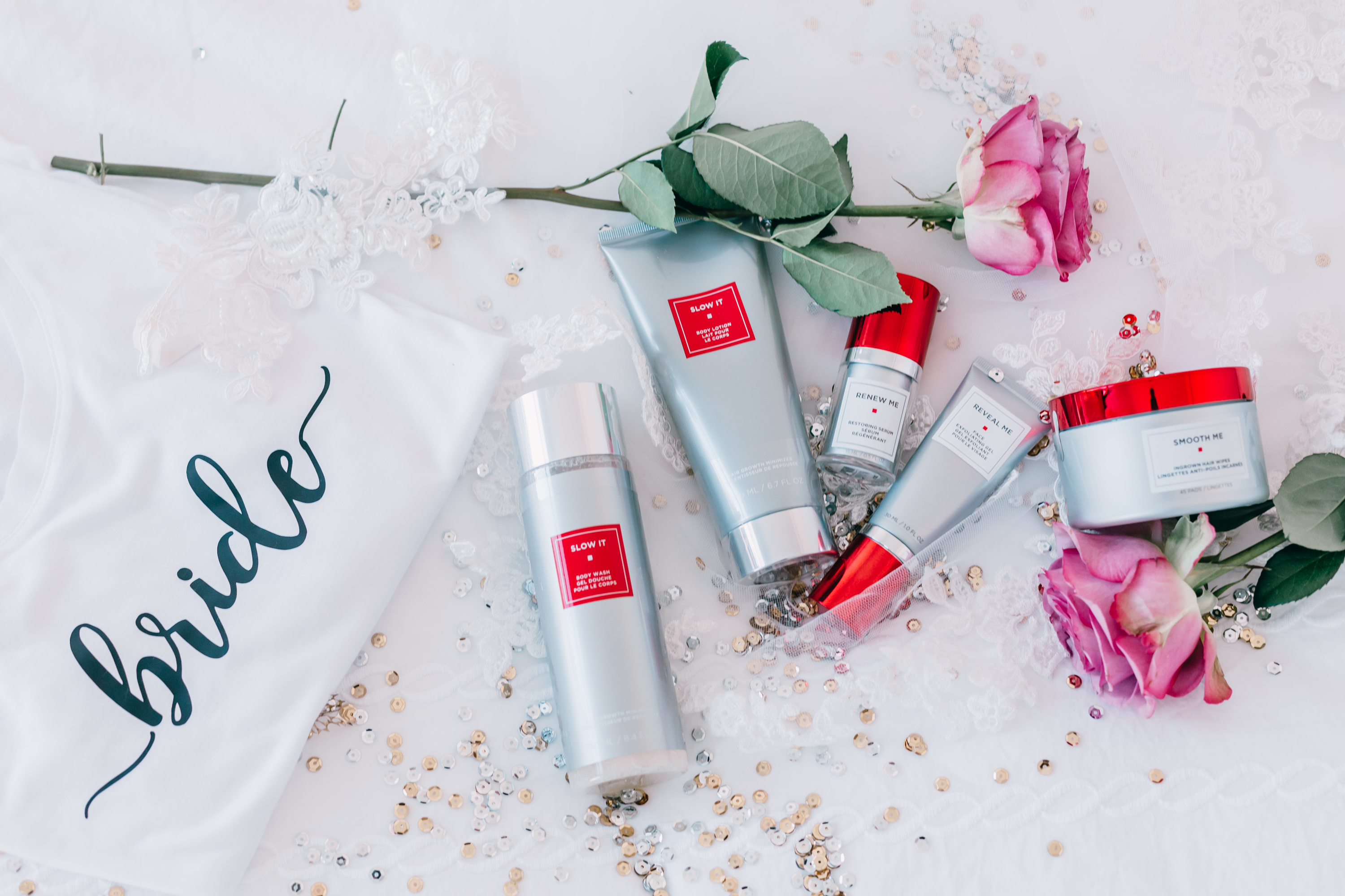 Skin-smoothing products for the bride-to-be from European Wax Center. Photo: @lindsilanestyle