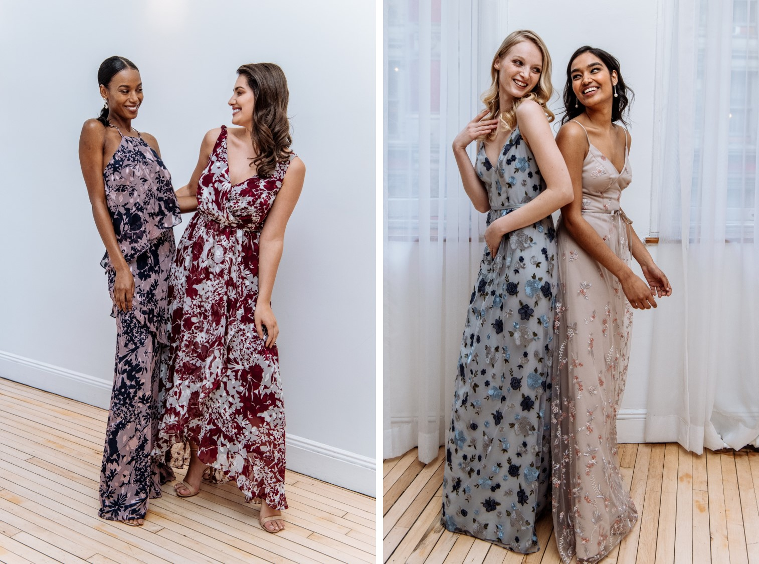Feminine florals for bridesmaids continues to be a growing trends See more Fall 2018 bridesmaid trends on the David's Bridal blog!