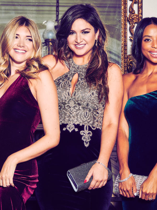 David's Bridal's Holiday campaign featuring @HonestlyKate @LexiconofStyle @WaitYouNeedThis
