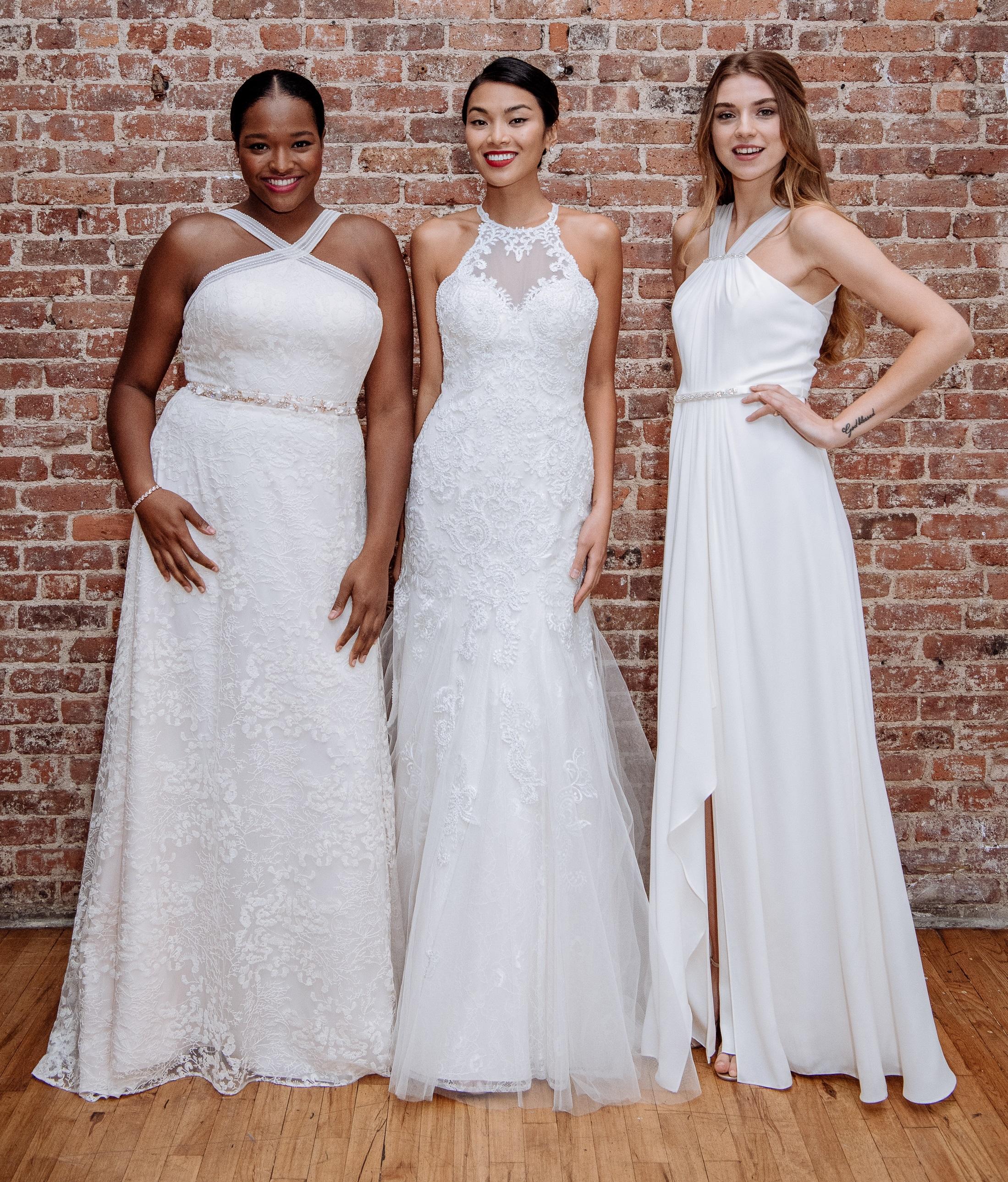 2019 Spring Wedding Dresses | High Neckline Wedding Dresses