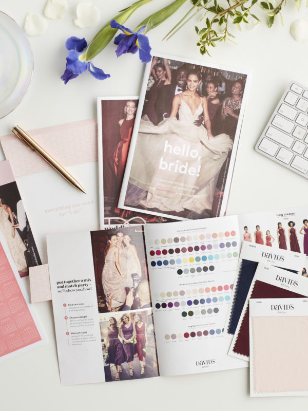 Colored Wedding Dress and Bridesmaid Pairings