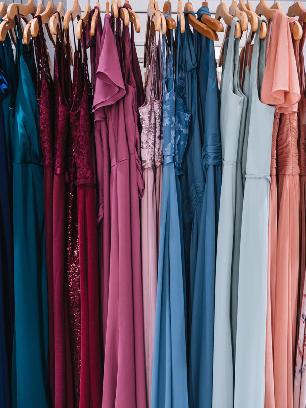 Rack of various 2019 Fall Bridesmaid Dresses from David's Bridal