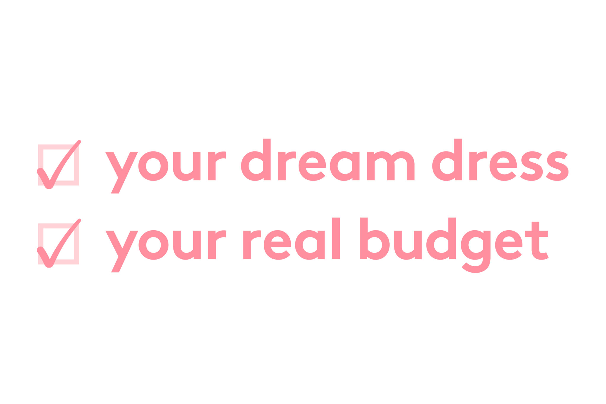 your dream dress, your real budget