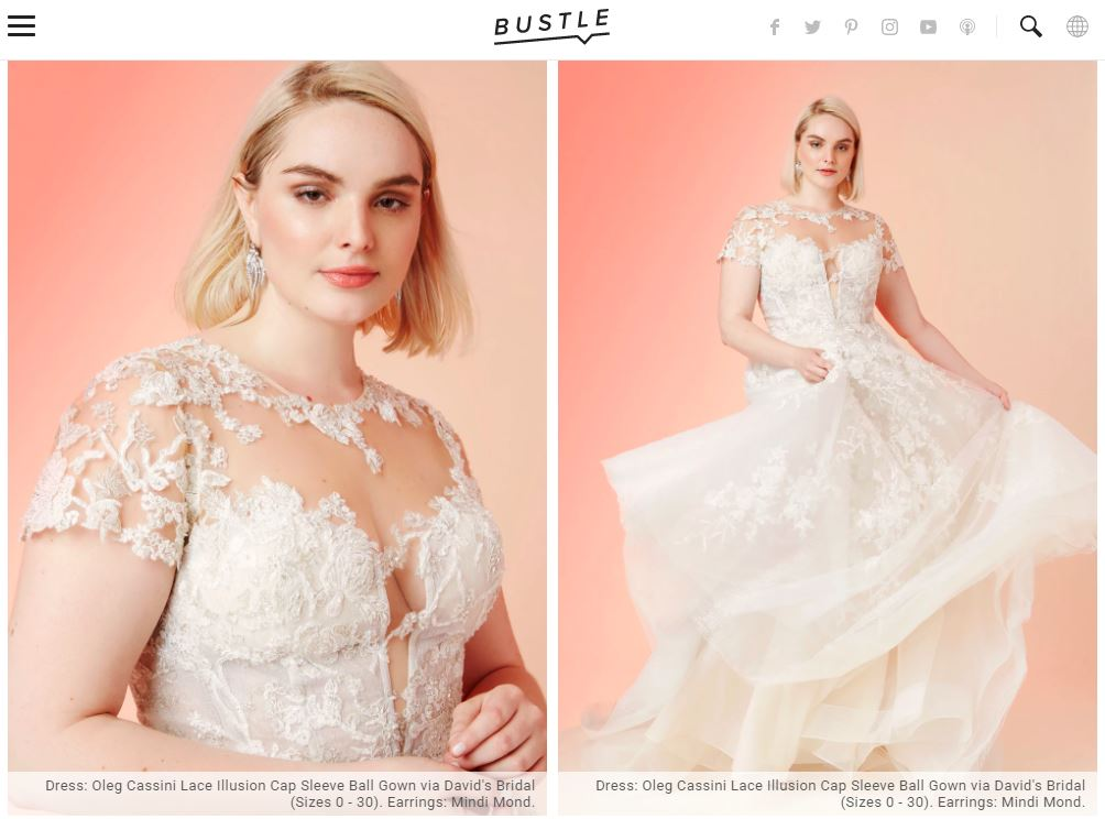Bride in cap sleeve illusion lace dress
