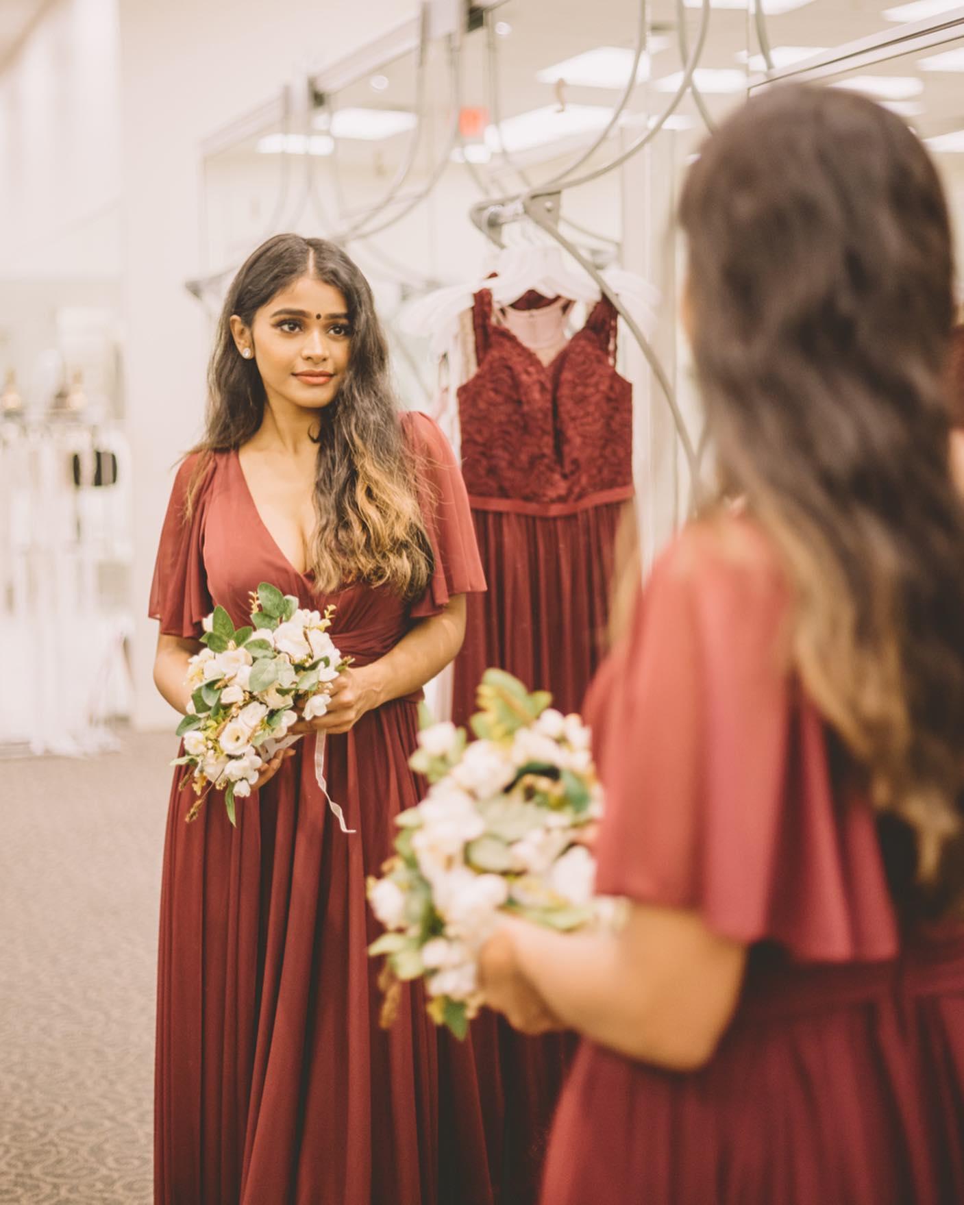 girl shopping for dress at david's bridal