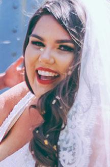 Close Up Solo Bride Picture