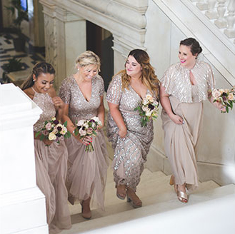 Bride Callie with bridal party