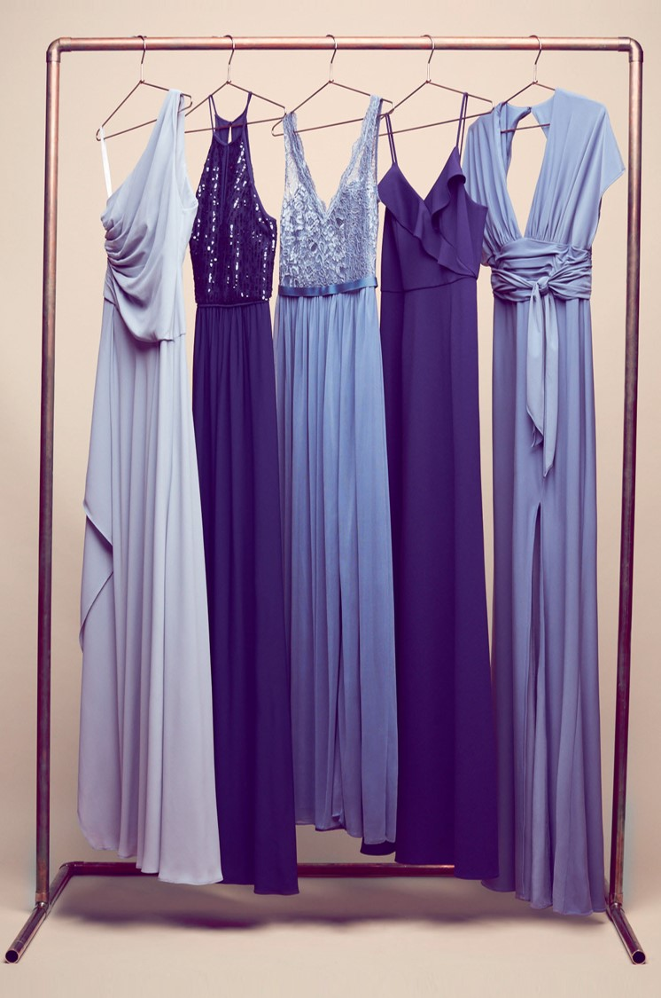 New Color Alert Dusty Blue Bridesmaid Dresses David S