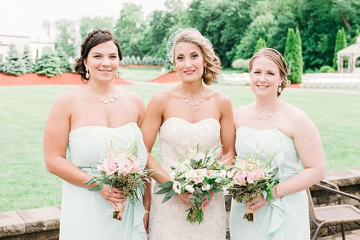 Real bride Becky with her bridesmaids