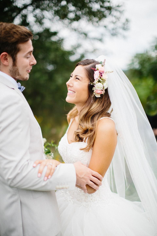 Bride Meghan and groom Alex