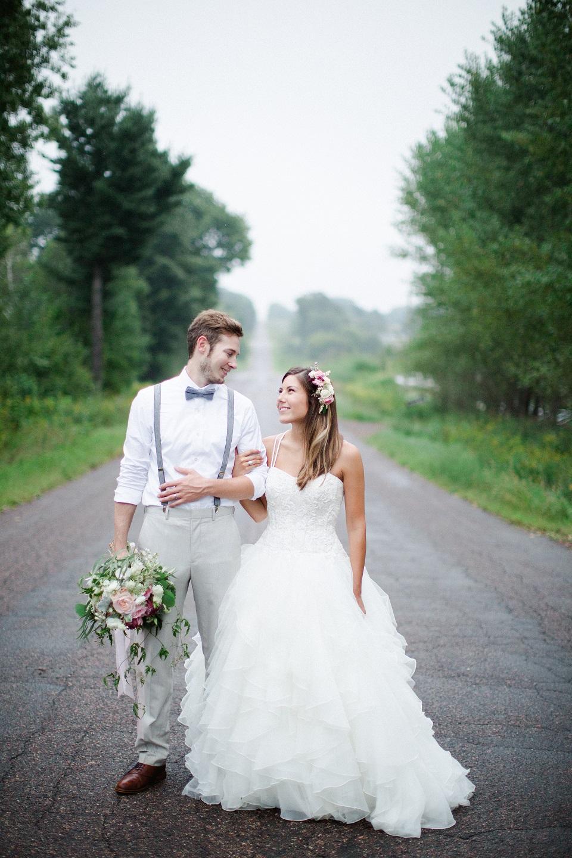 Bride and Groom outdoor shot