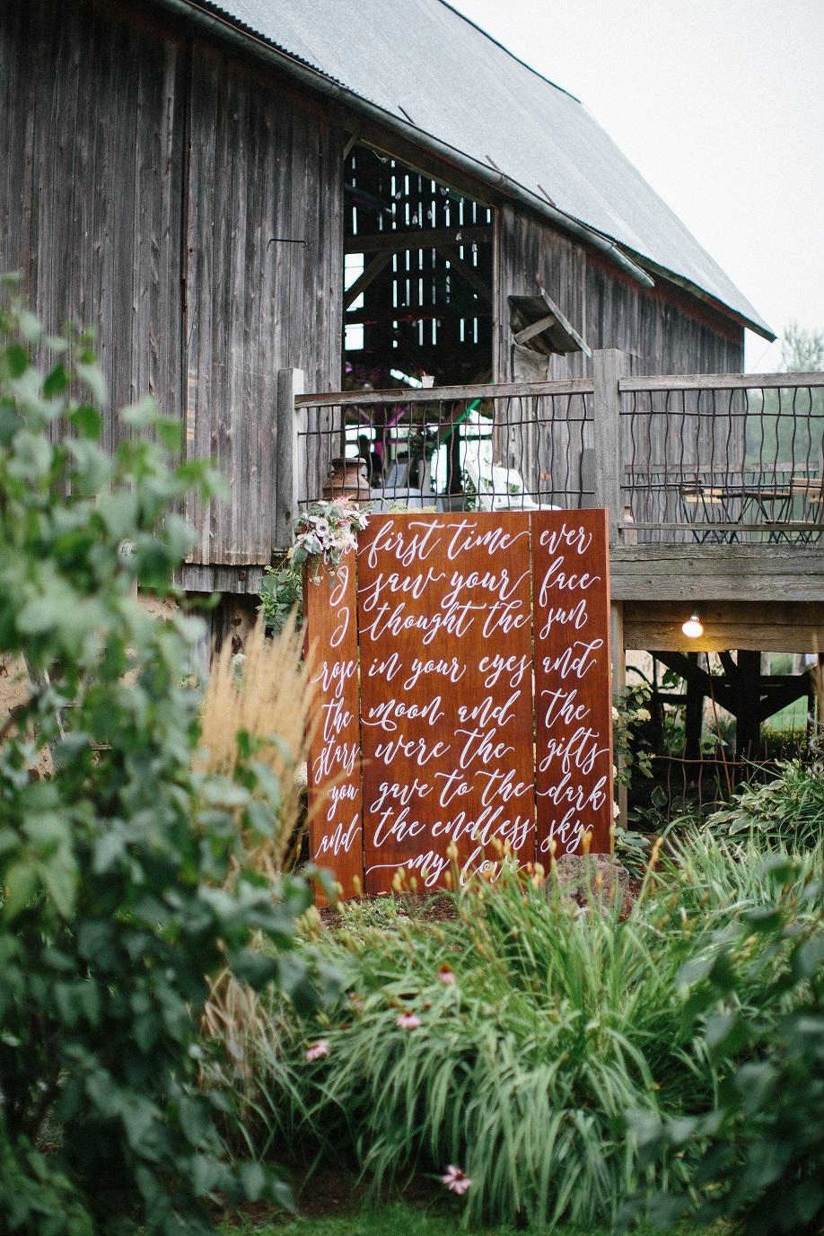 DIY decor at Meghan and Alex's wedding