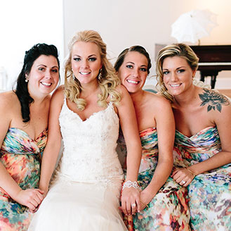 Nicole and her bridesmaids.
