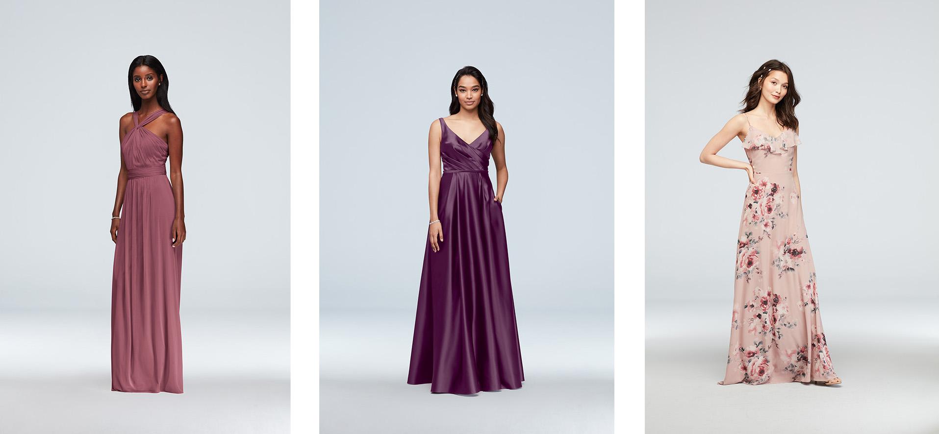 Three bridesmaid dresses