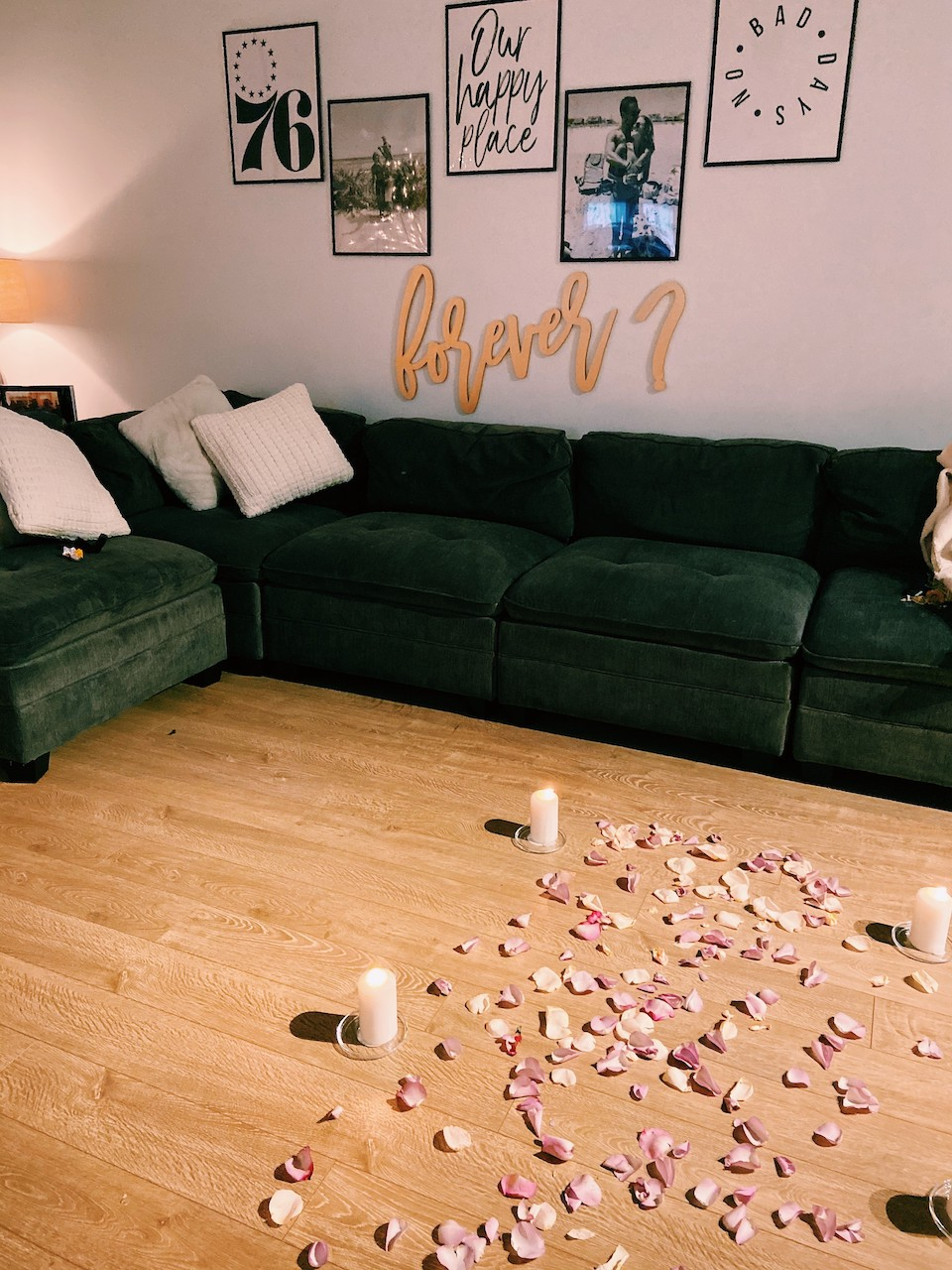 Romantic At Home Proposal