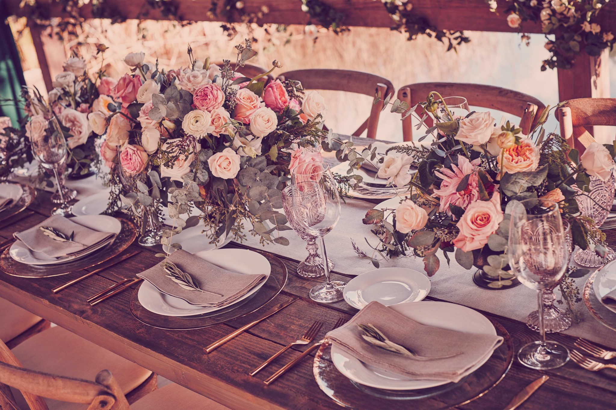 Wedding table with decorations