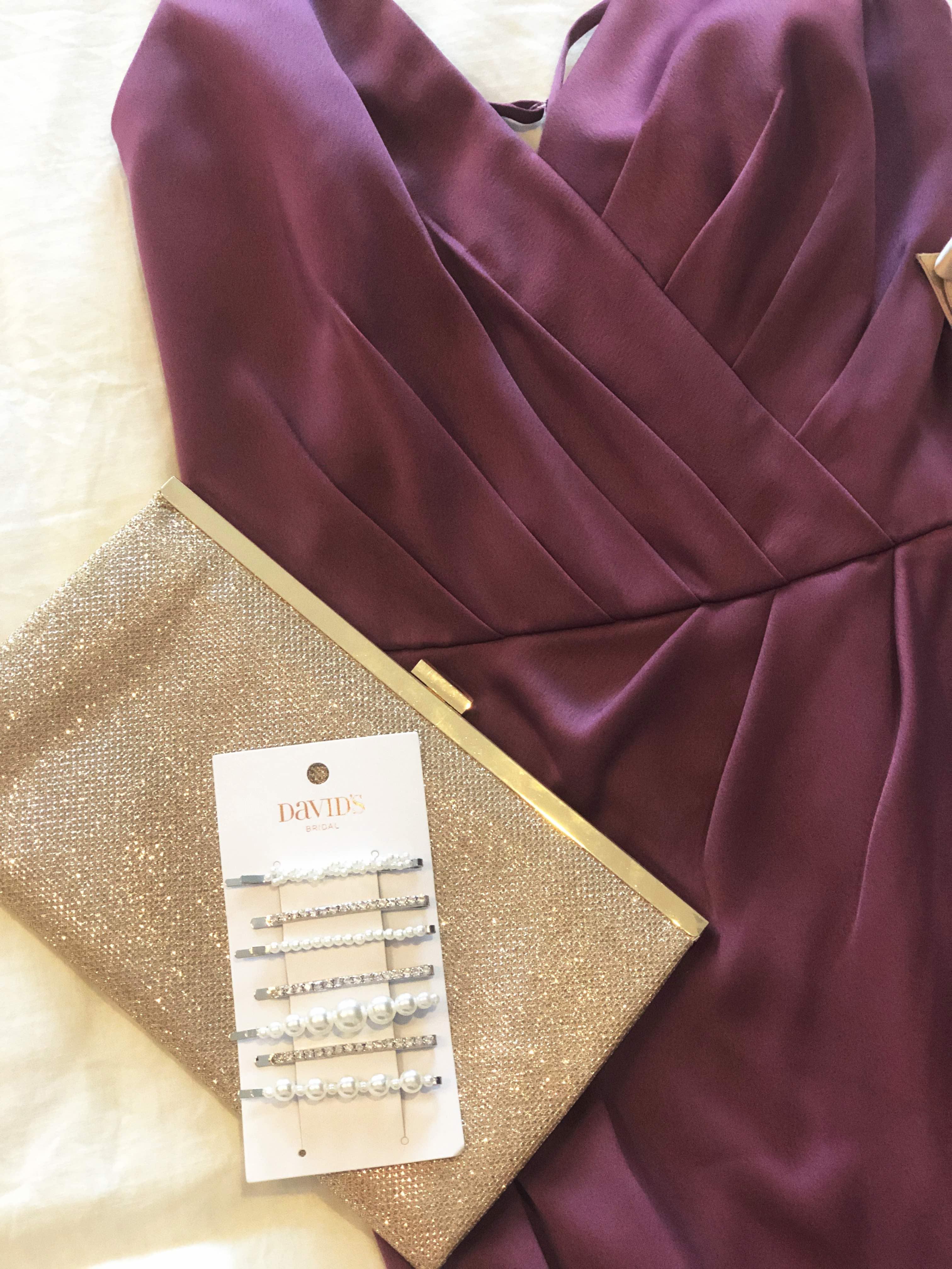 Bridesmaid Dress Flatlay