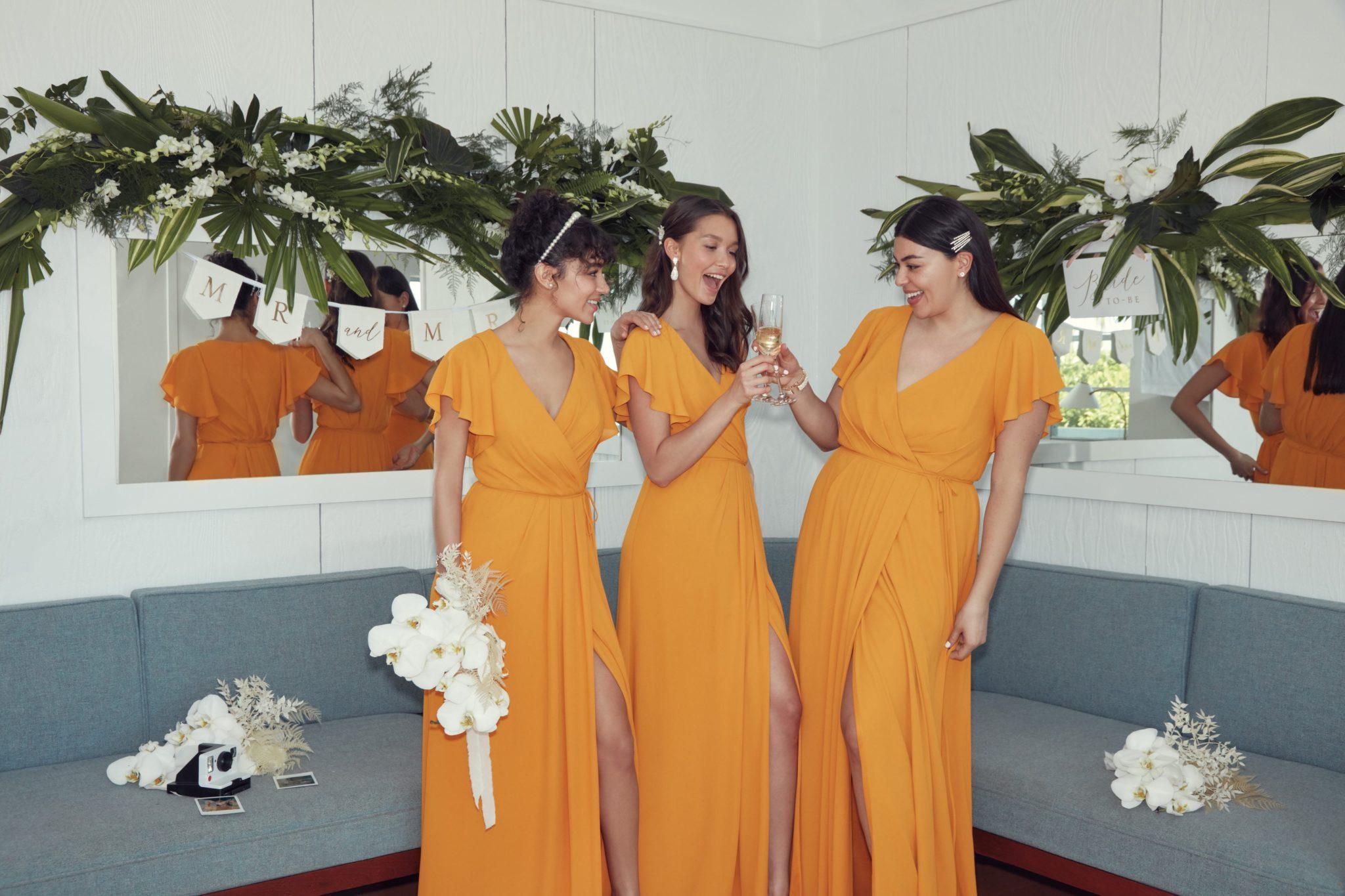 Bridesmaids in Marigold