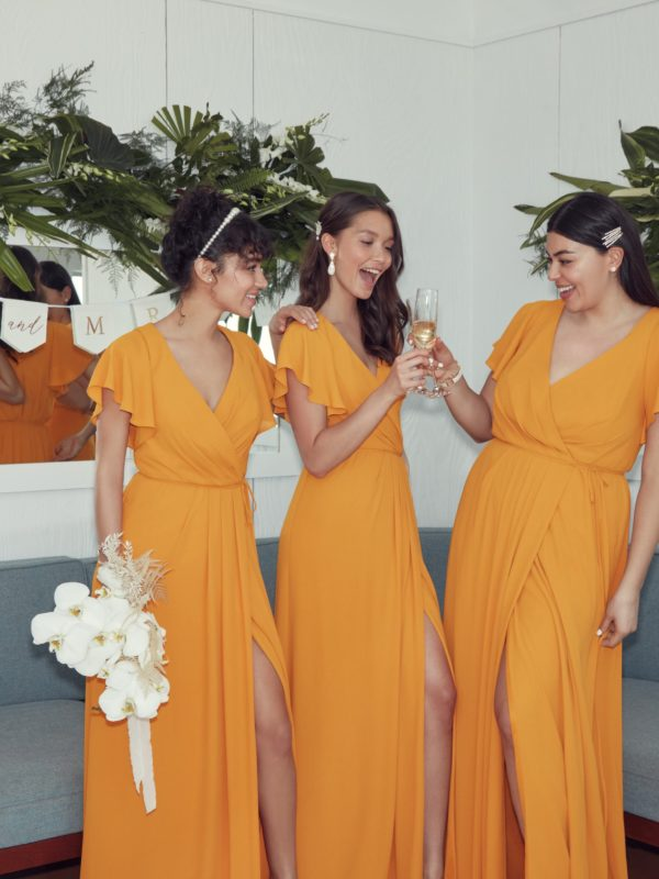 Bridesmaids in Marigold