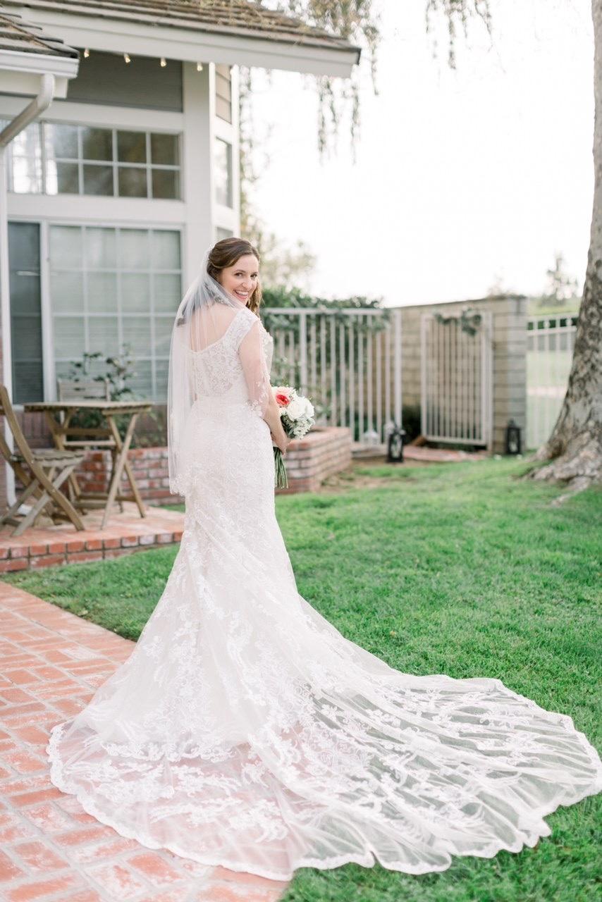 Bridal Back Shot