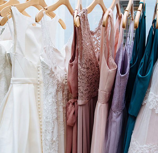 Dresses Hanging on a Rack