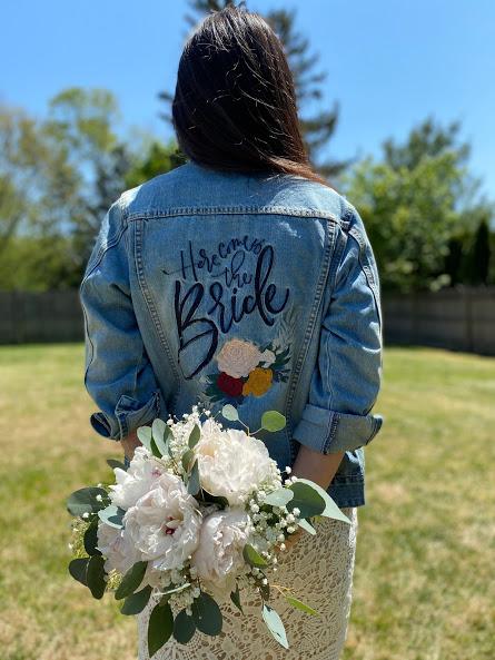 Detail Shot of Denim Jacket