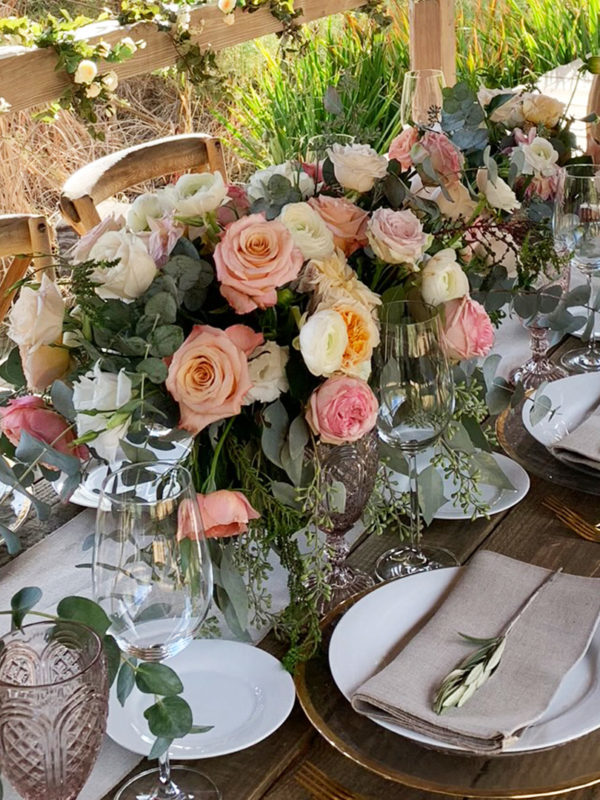 Rustic Tablescape Virtual Zoom Background