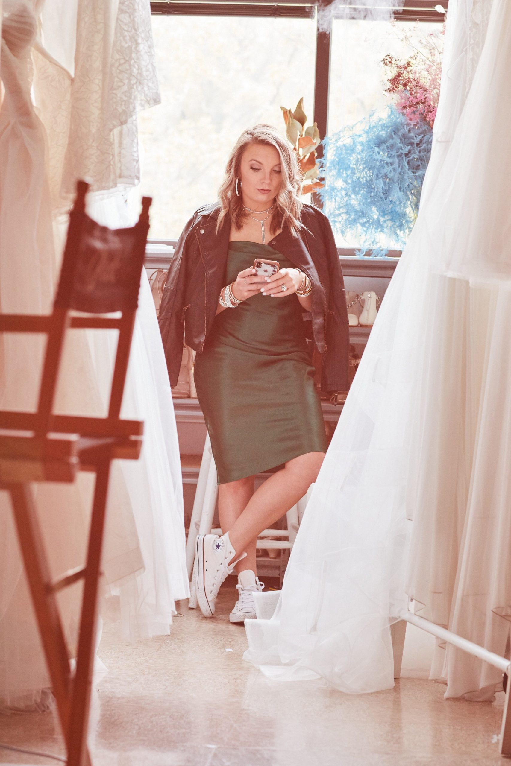 Casually Styles Midi Satin Bridesmaid Dress