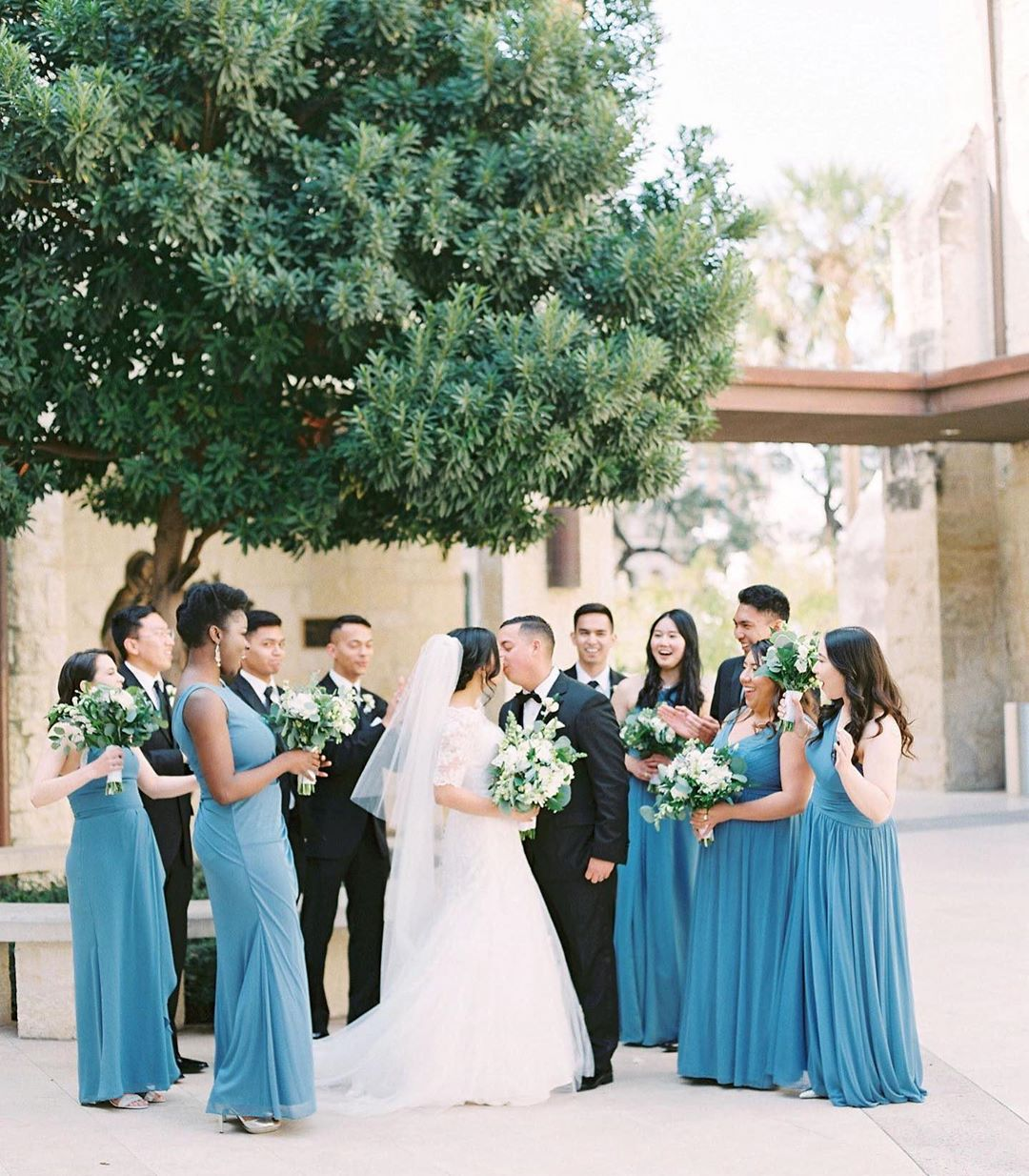 Steel Blue bridal party