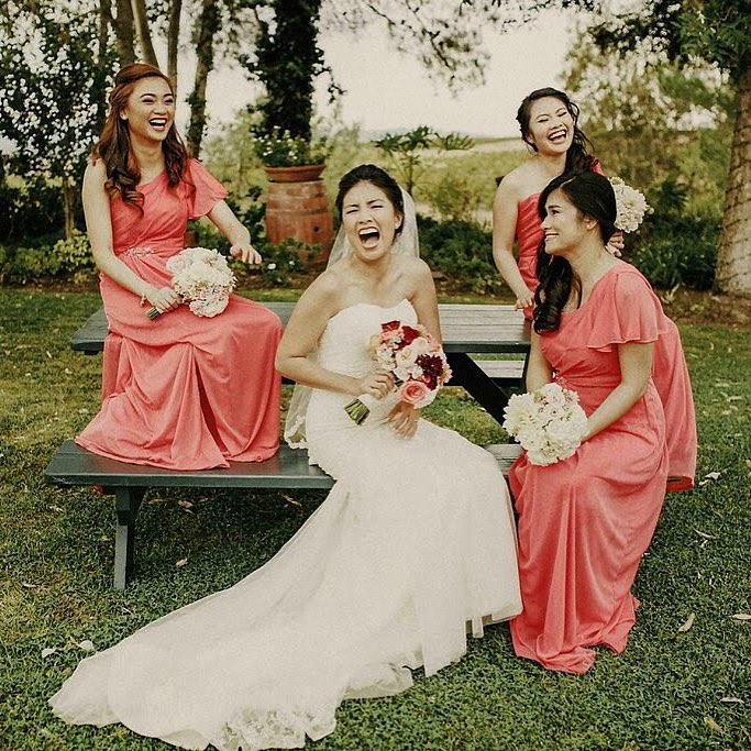 Guava Bridesmaid Dresses