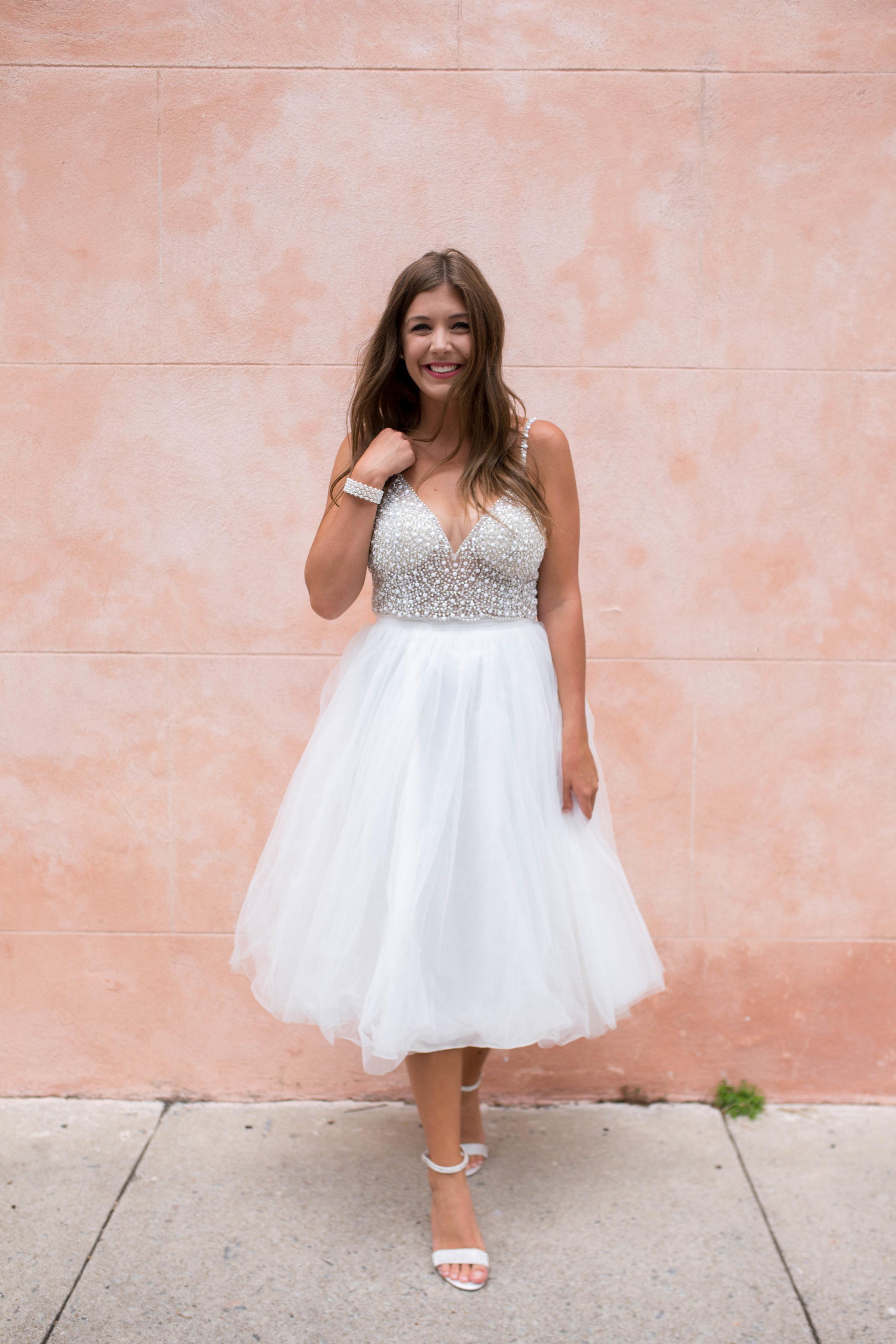 Jupe de mariée courte en tulle