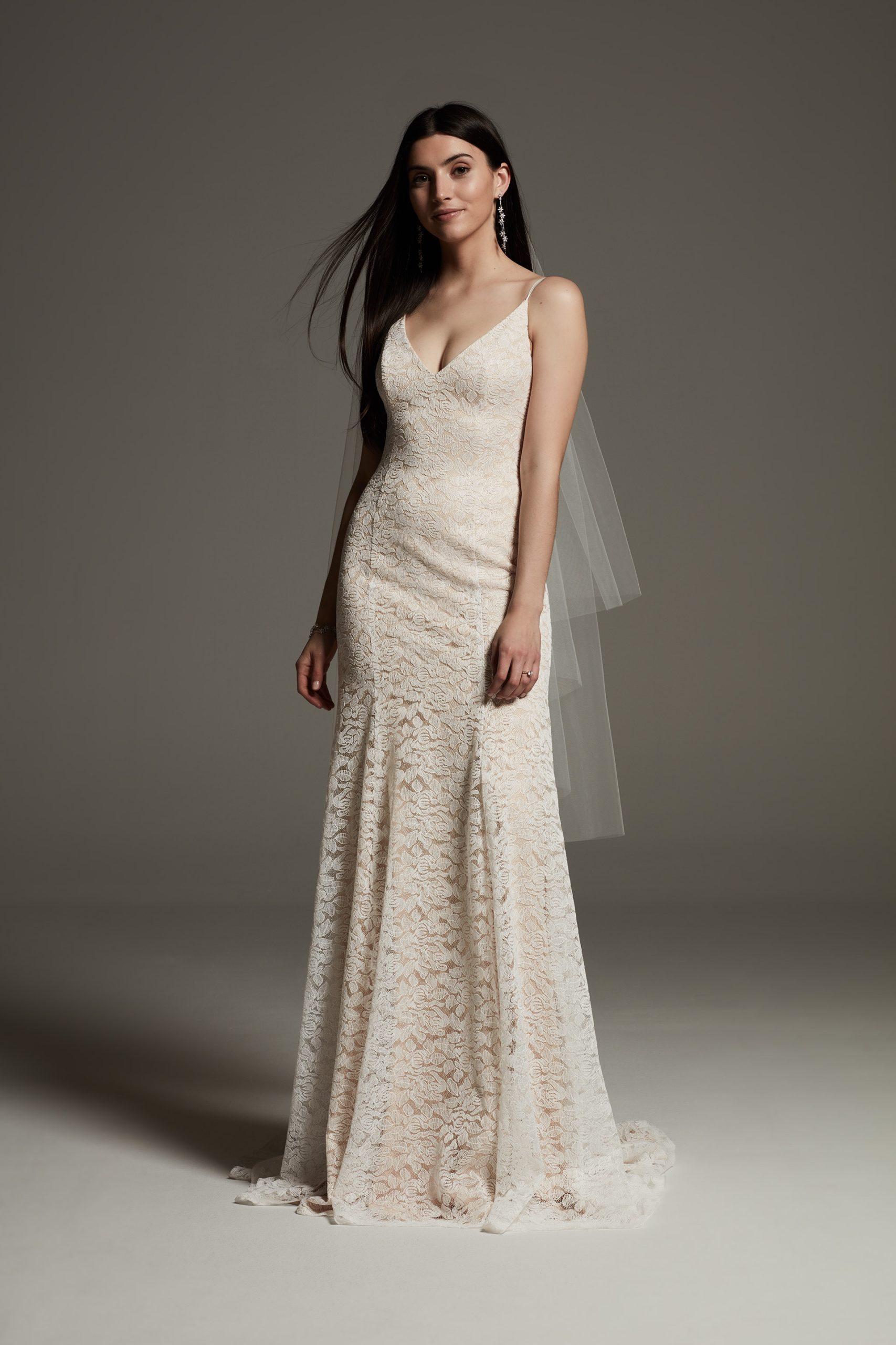 Vera Wang Ivory Lace Slip