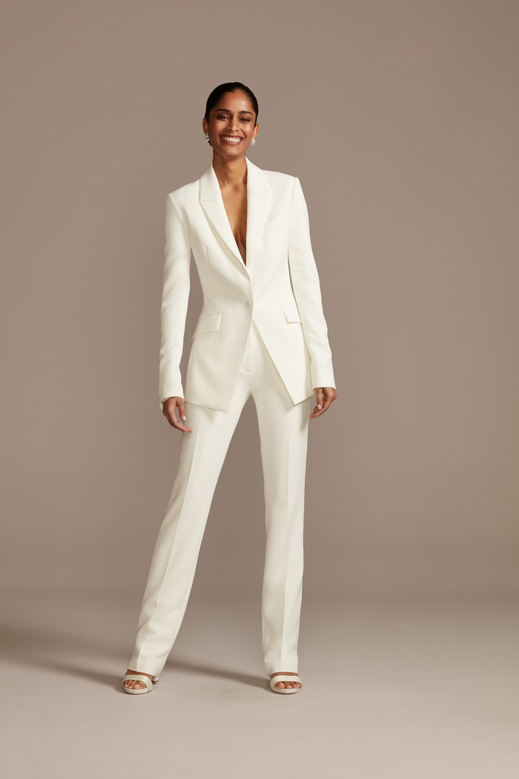 White Bridal Pantsuit