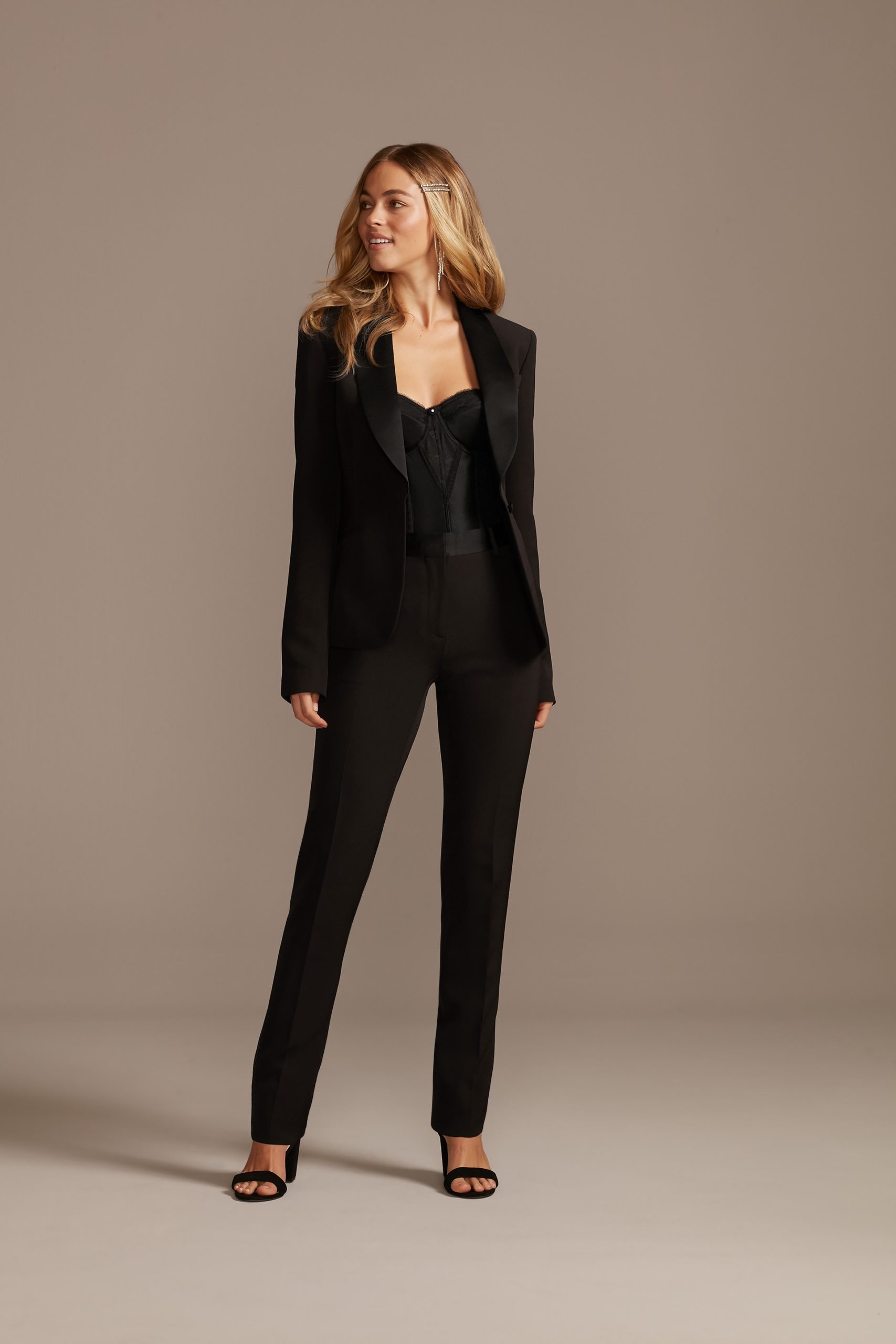 Black Bridal Pantsuit