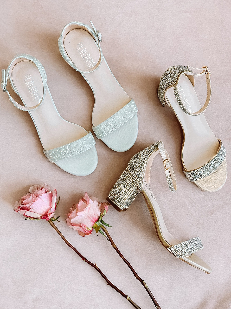 outdoor wedding block heels