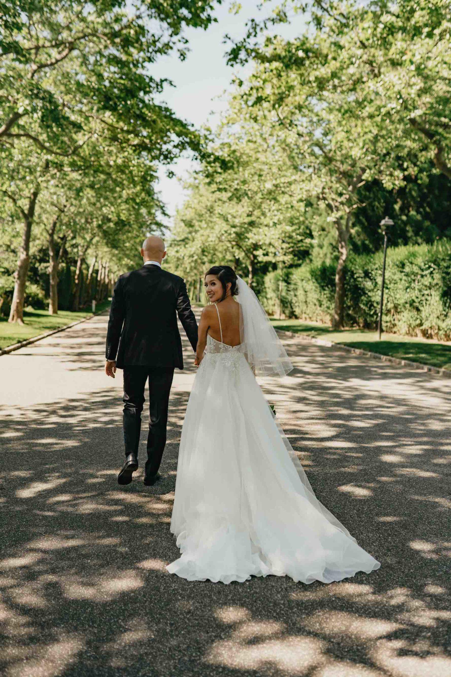 bride and groom shot