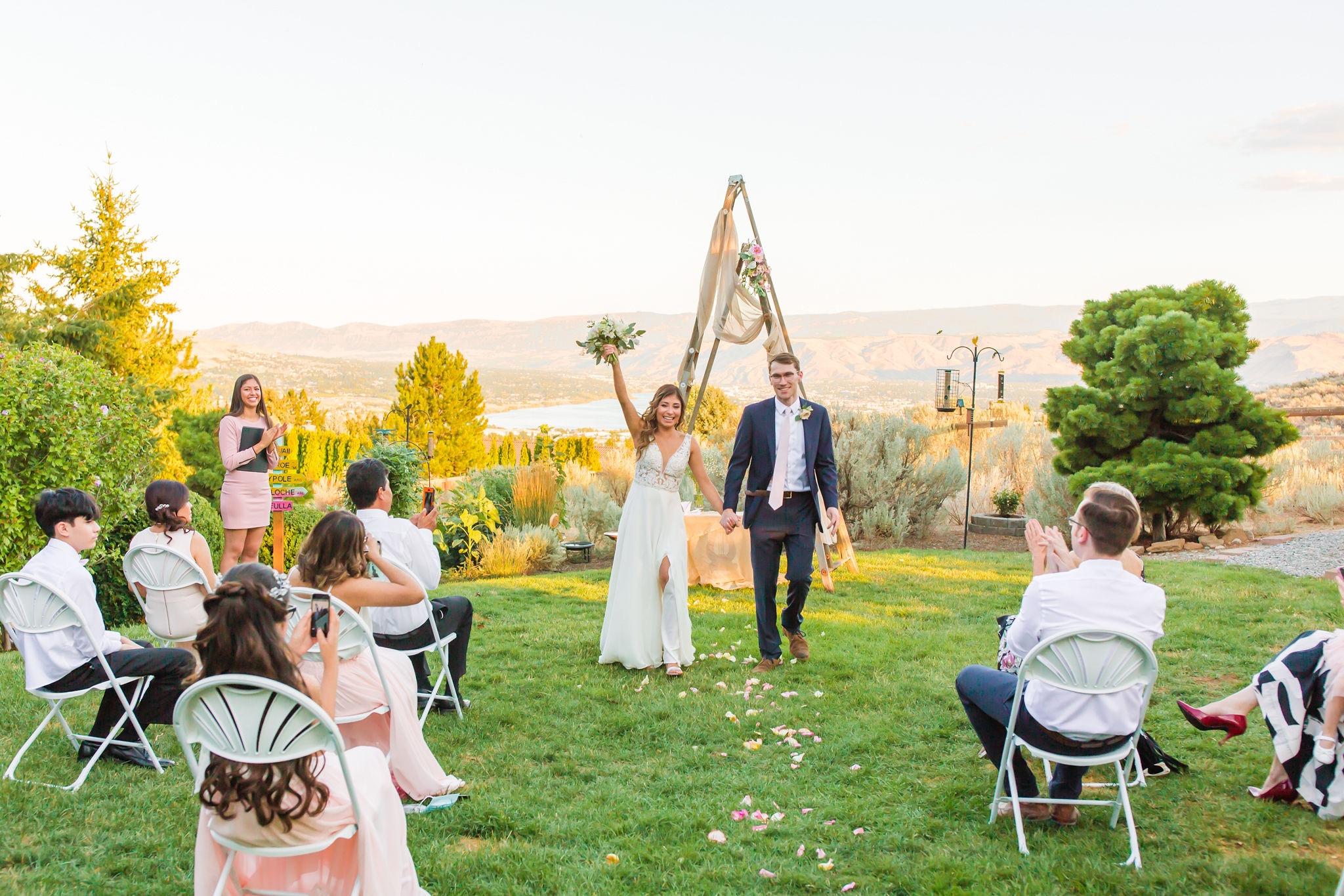 Jessica and Doug as newly pronounced husband and wife