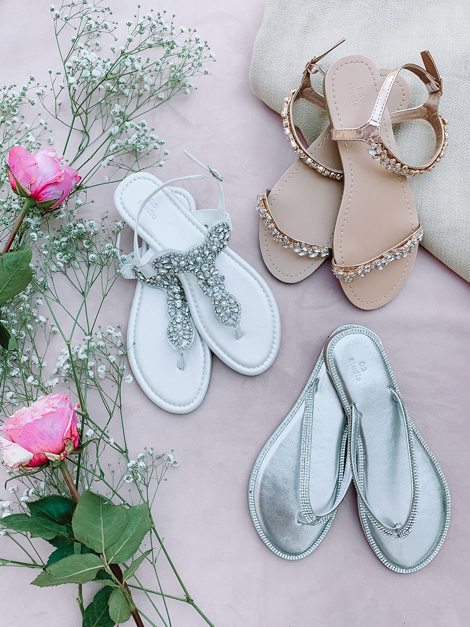 sandals and flip flops for outdoor weddings