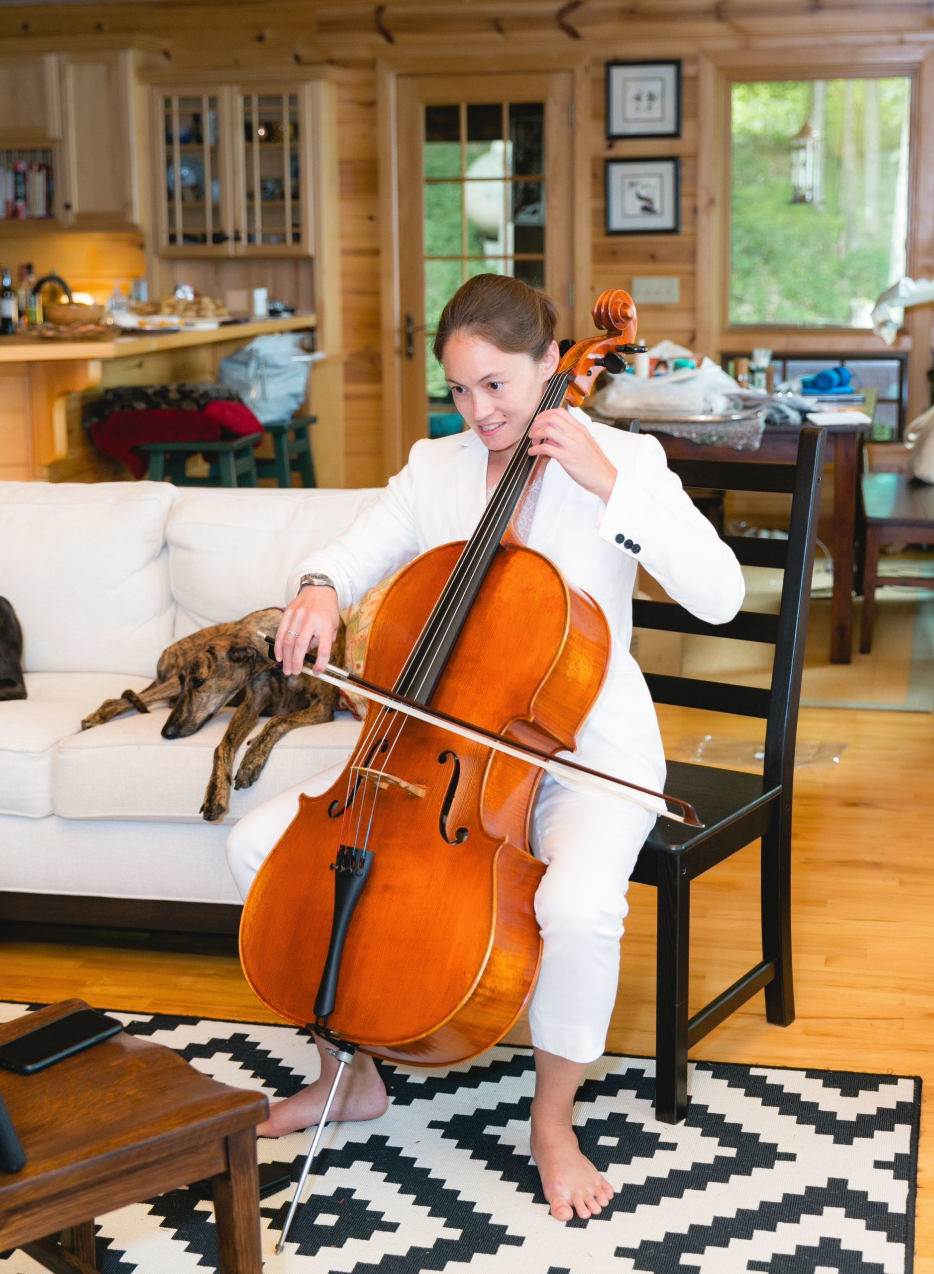 Rachel playing Cello
